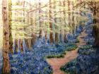 Forest Bluebell Woods<br />(Watercolour and pastels)